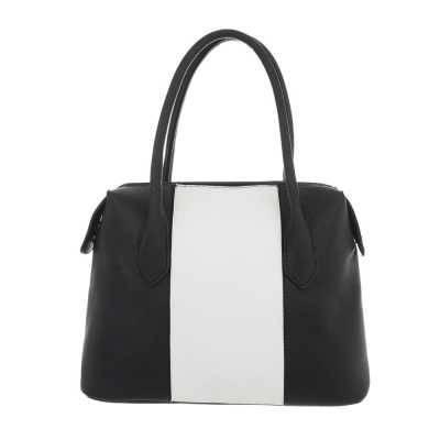 Mittelgroße Damen Tasche Schwarz Weiß