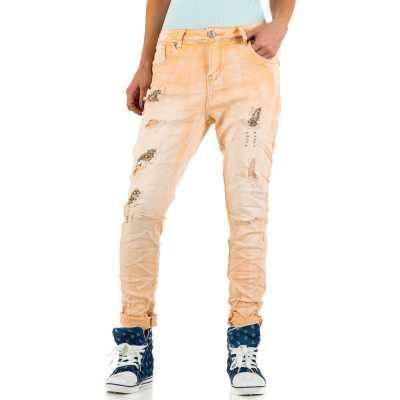 Boyfriend Jeans für Damen in Orange