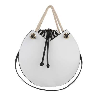 Schultertasche für Damen in Weiß