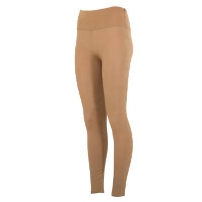 Leggings in Lederoptik für Damen in Beige