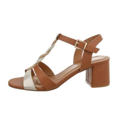 High Heel Sandaletten für Damen in Braun und Beige