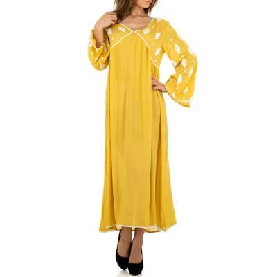 Maxikleid für Damen in Gelb