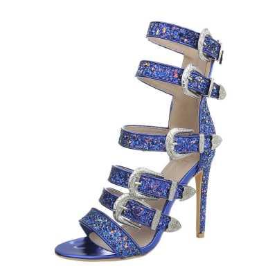 High Heel Sandaletten für Damen in Blau