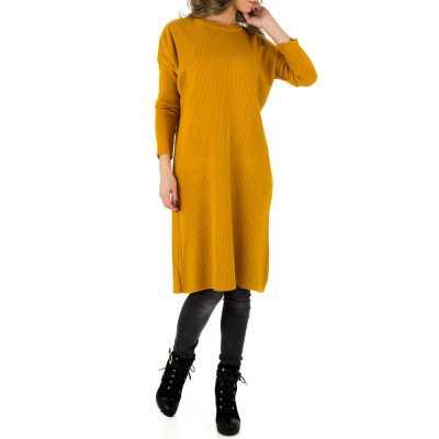 Longpullover/Tunika für Damen in Gelb