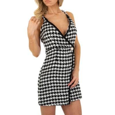 Sommerkleid für Damen in Schwarz und Weiß