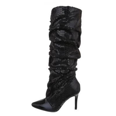 High Heel Stiefel für Damen in Schwarz und Grau