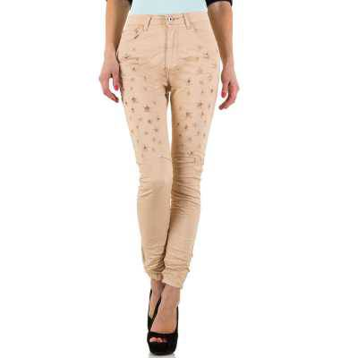 High Waist Jeans für Damen in Beige