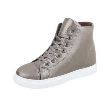 Sneakers high für Damen in Silber