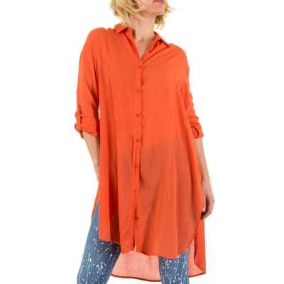 Longbluse für Damen in Orange