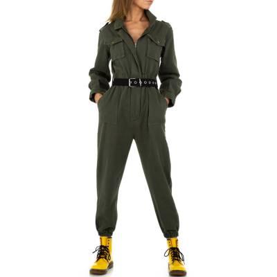 Langer Jumpsuit für Damen in Braun
