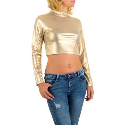 Langarmshirt für Damen in Gold