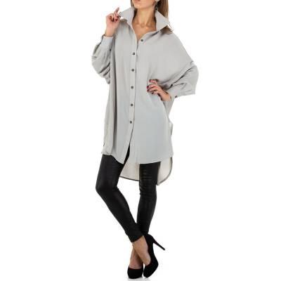 Longbluse für Damen in Grau