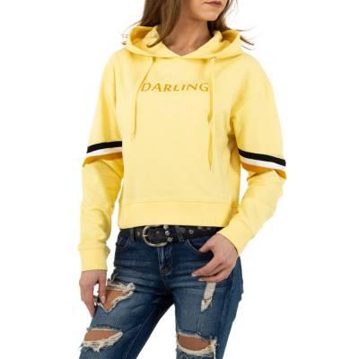Sweatshirt für Damen in Gelb