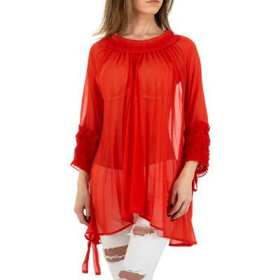 Longbluse für Damen in Rot