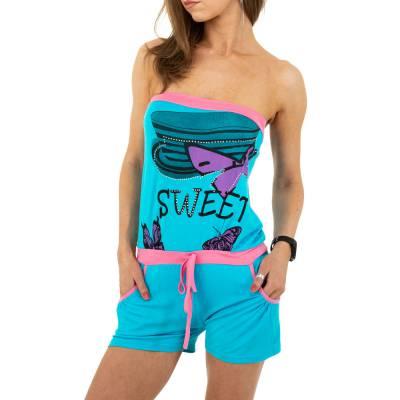 Kurzer Jumpsuit für Damen in Blau