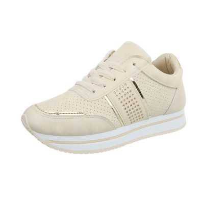 Sneakers high für Damen in Beige