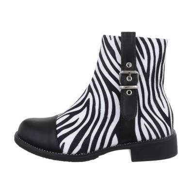 Klassische Stiefeletten für Damen in Weiß und Schwarz