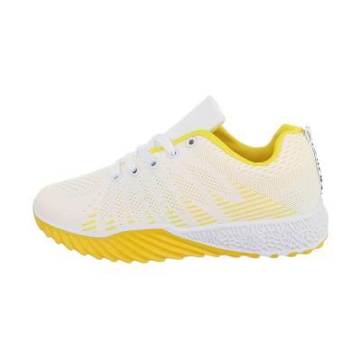 Sneakers low für Damen in Weiß und Gelb