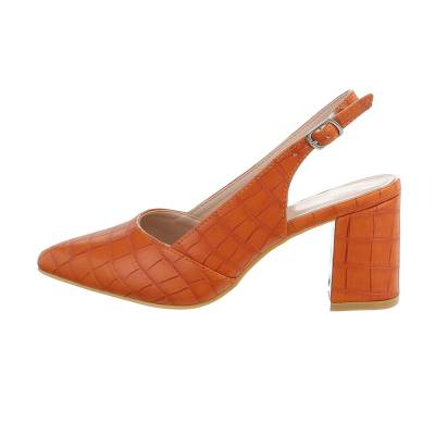 Schnür- & Riemchenpumps für Damen in Orange