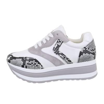 Sneakers low für Damen in Grau und Weiß
