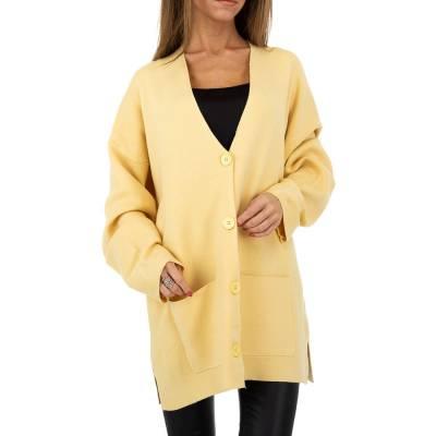 Strickjacke für Damen in Gelb