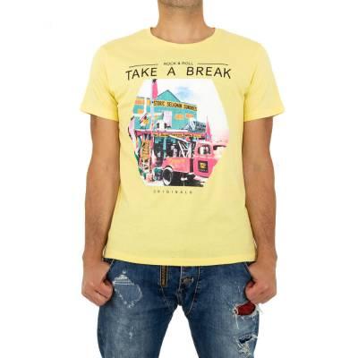 T-Shirt für Herren in Gelb