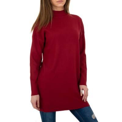 Longpullover für Damen in Rot