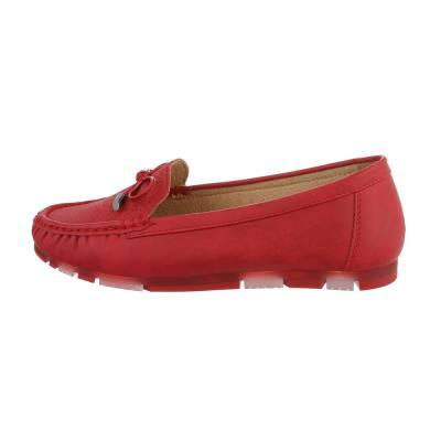 Mokassins für Damen in Rot