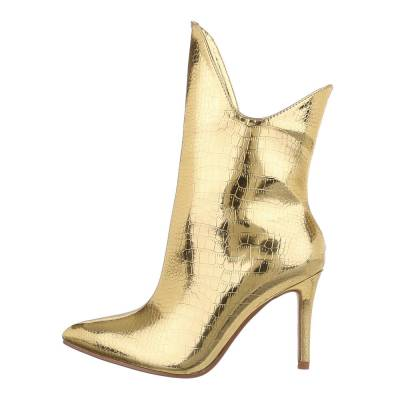 High Heel Stiefeletten für Damen in Gold