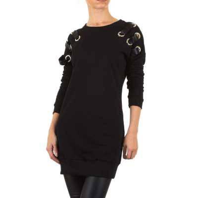 Longpullover/Tunika für Damen in Schwarz
