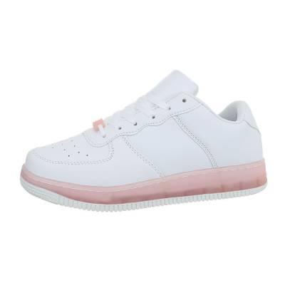 Sneakers low für Damen in Weiß und Rosa
