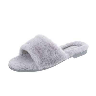 Hausschuhe für Damen in Grau