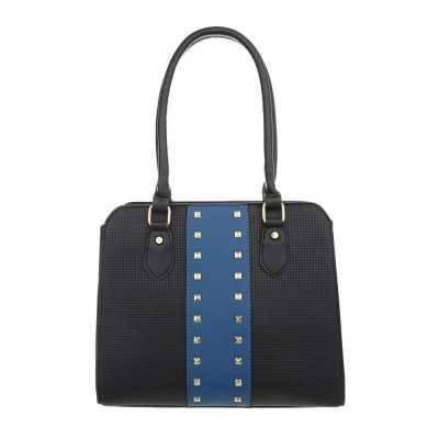 Mittelgroße Damen Tasche Schwarz Blau