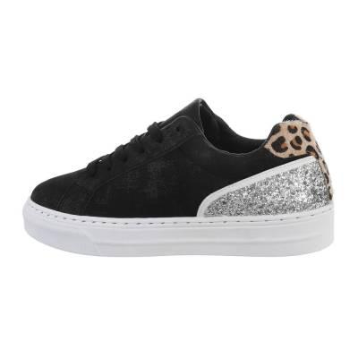 Sneakers low für Damen in Schwarz und Silber
