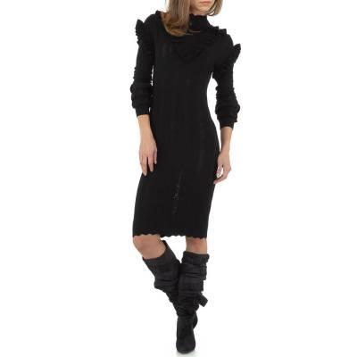 Stretchkleid für Damen in Schwarz
