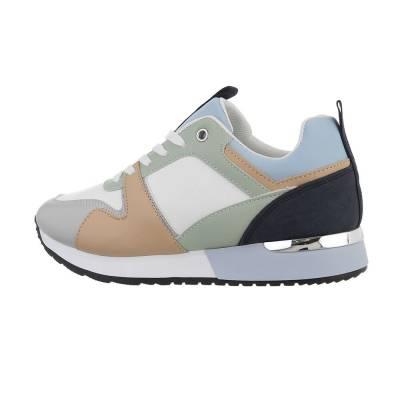 Sneakers low für Damen in Grün und Weiß