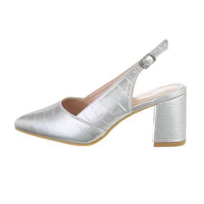 Schnür- & Riemchenpumps für Damen in Silber