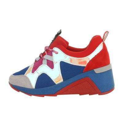 Sneakers low für Damen in Blau und Rot