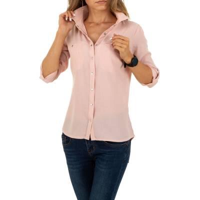 Hemdbluse für Damen in Rosa