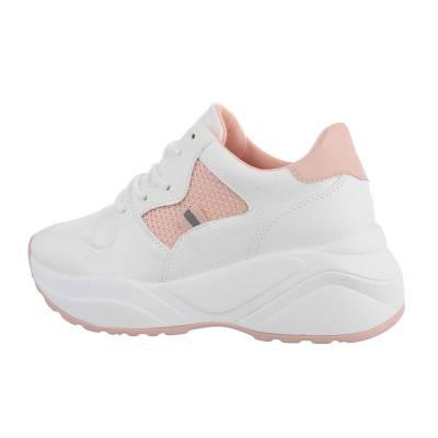 Sneakers low für Damen in Rot und Rosa