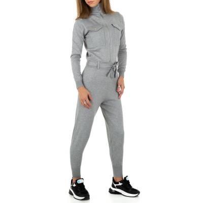 Langer Jumpsuit für Damen in Grau