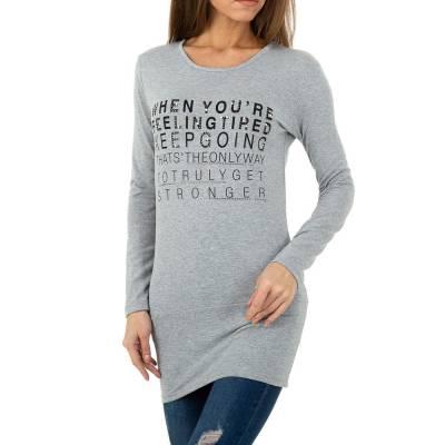 Langarmshirt für Damen in Grau