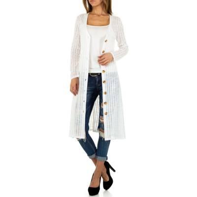 Strickcardigan für Damen in Weiß