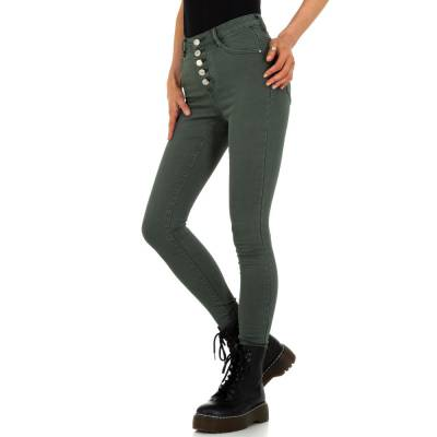 High Waist Jeans für Damen in Braun und Khaki