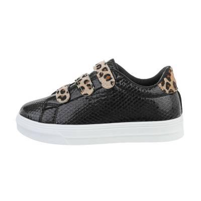Sneakers low für Damen in Schwarz und Beige