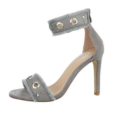 High Heel Sandaletten für Damen in Grau
