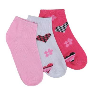 12 Paar Damen Socken Rosa