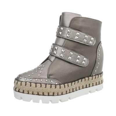 Sneakers high für Damen in Silber und Grau