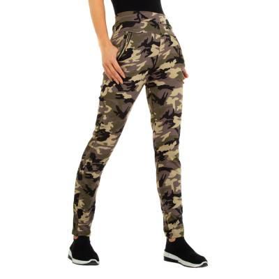 Boyfriend-Hose für Damen in Khaki und Camouflage