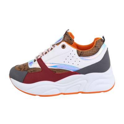 Sneakers low für Damen in Braun und Weiß